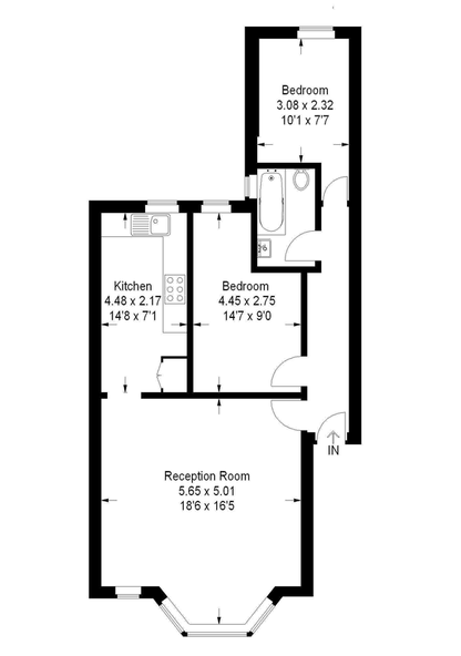 Floor plan of our soon-to-be-first home