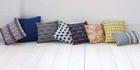 Adding colour and texture with mix and match pillows