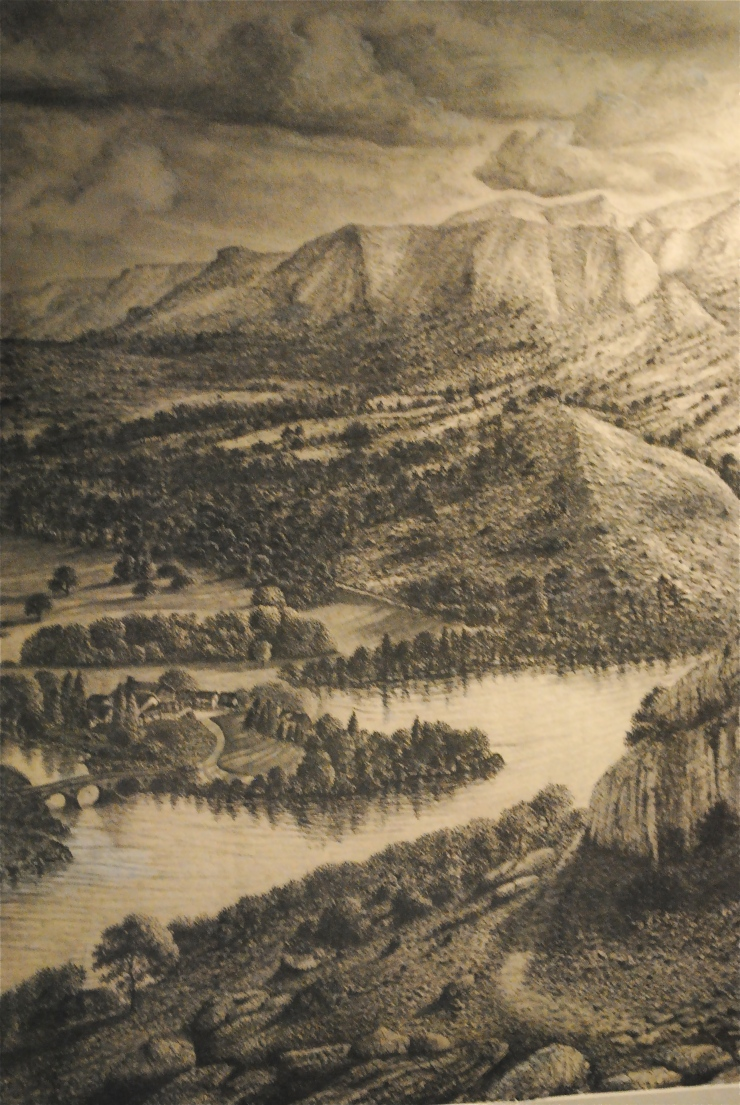 Charcoal landscape by Peter Hamill