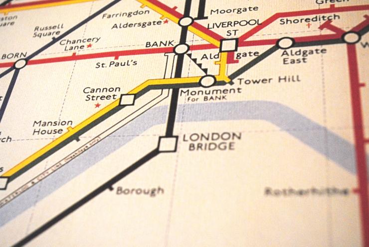 Vintage London Underground Print