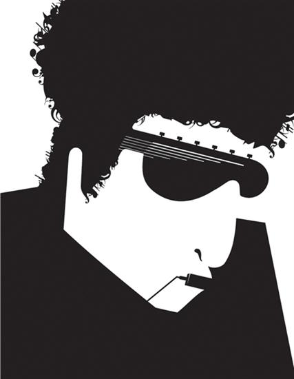 Bob Dylan by Noma Bar
